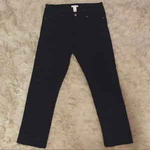 H&M Black Cropped Pant